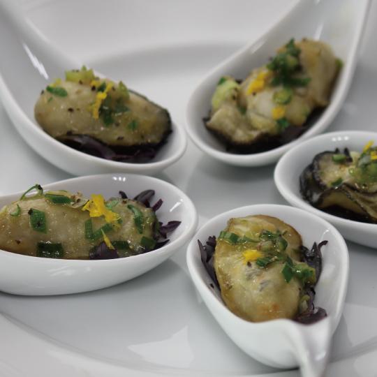 牡蠣のバタポンソテー